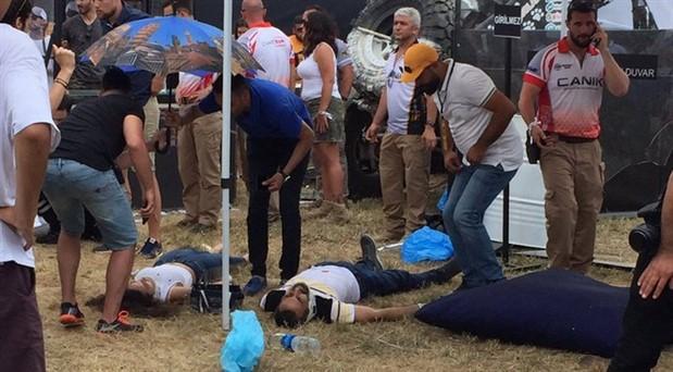 İstanbul'da düzenlenen festivalde off road aracı kalabalığın arasına daldı: Yaralılar var