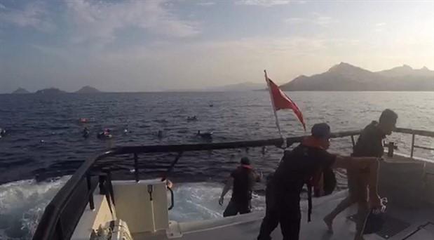 Bodrum'da göçmenleri taşıyan tekne battı: 12 ölü