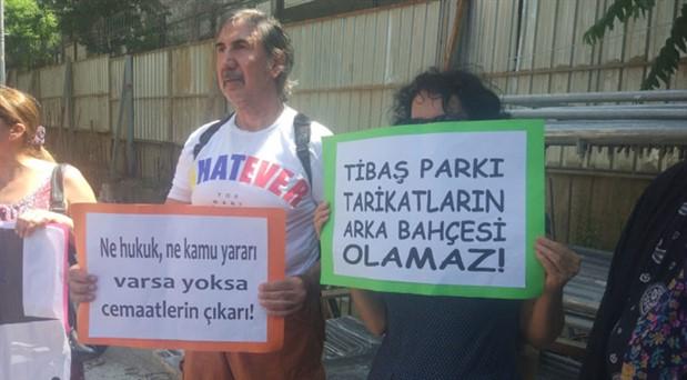TİBAŞ Parkı'nda keşif yapıldı: 'Cemaat yurdu değil, park istiyoruz'