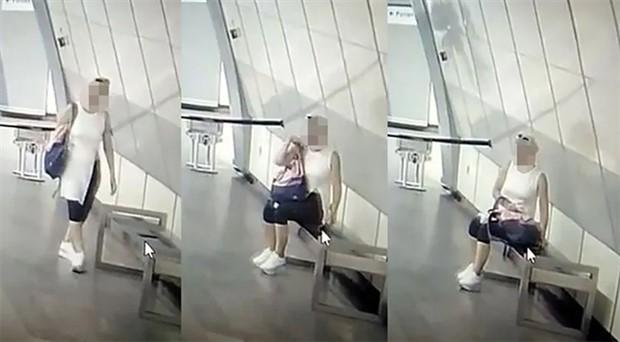 Genç kadın, metroda unutulan telefonu çalıp gitti