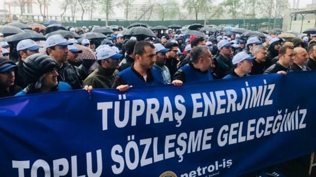 TÜPRAŞ işçileri İstanbul yolcusu