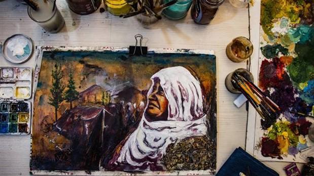 Ressam Ercan Altuntaş'tan 'Beyaz Tülbentliler'