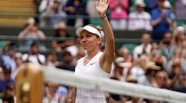 Wimbledon'da Simona Halep finale yükseldi