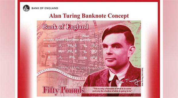 50 sterlinlik banknotlara Alan Turing basılacak