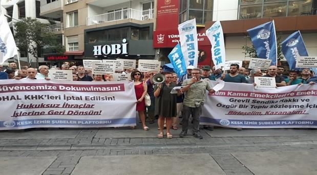 KESK İzmir Şubeler Platformu: Haklarımızın peşkeş çekilmesini hep beraber engelleyelim