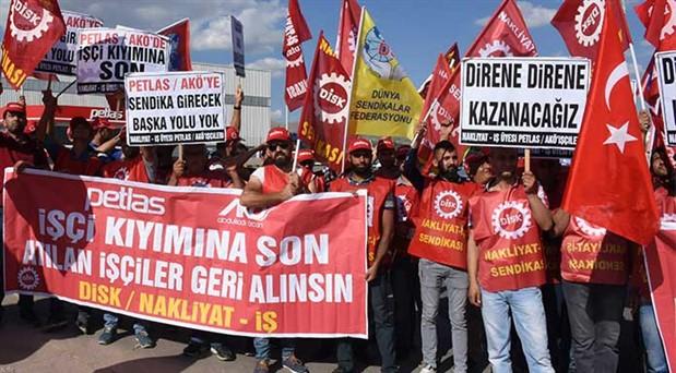 PETLAS işçileri direnişe geçti