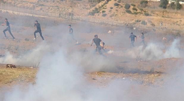 Gazze sınırında İsrail saldırısı: 97 yaralı