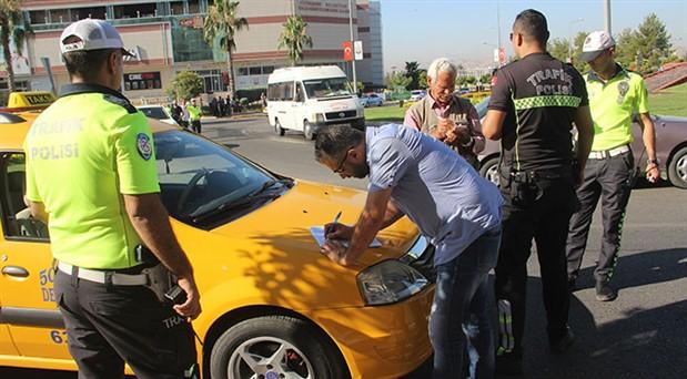 Urfa'da taksilere ceza yağdı