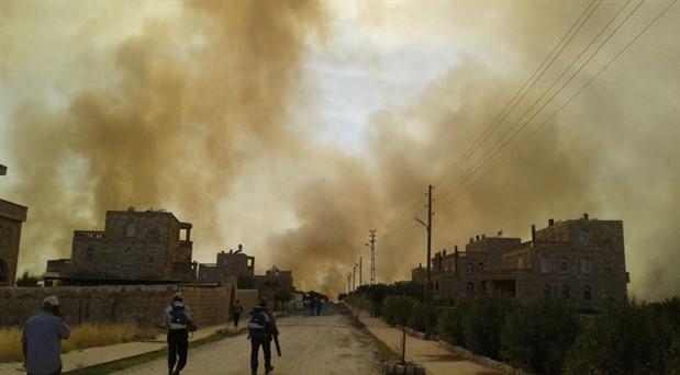 Mardin'in Bagok Dağı'nda büyük yangın: 6 Süryani köyü ve Botaş İstasyonu tehdit altında