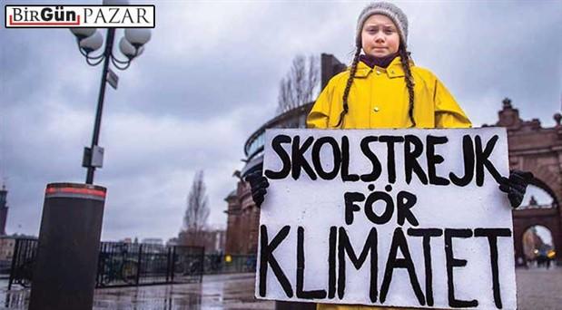 Otizm Spektrumundaki bir genç dünyayı  iklim krizine uyandırıyor: Geleceğimizi sattınız