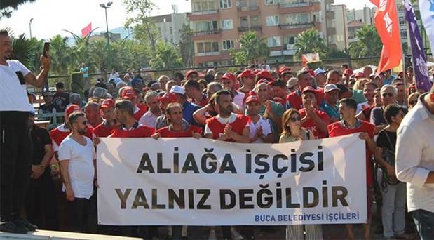 Aliağa işçilerine uluslararası destek