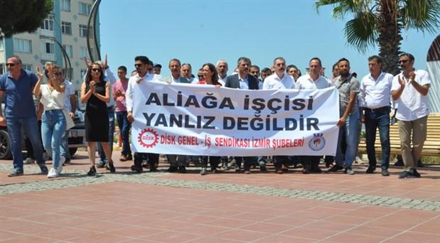 DİSK'ten Aliağa işçilerine destek ziyareti