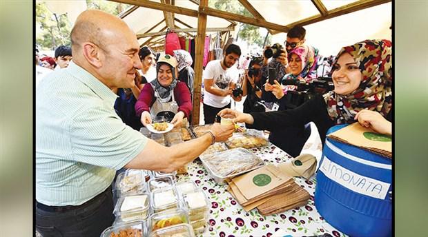 Pagos üretici pazarı açıldı: Kadifekale'nin ışığı pırıl pırıl İzmir'e yansıyacak
