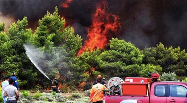 Yunanistan'da orman yangınları