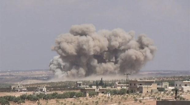 İdlib'de Suriye ordusuna ait savaş uçağı düşürüldü!