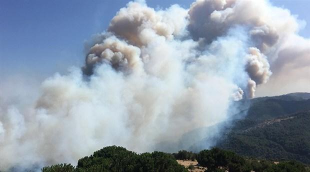 Karabağlar yanıyor: 'Rüzgâr kontrol altına alınmasını zorlaştırıyor'