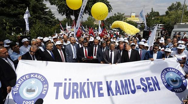 Kamu-Sen hükümetin yeni zam teklifini protesto etti