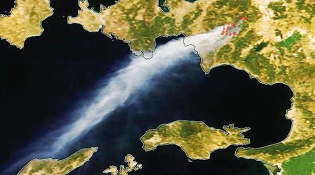 İzmir yangını NASA tarafından görüntülendi