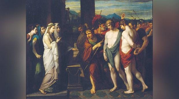 Orestes'in üzerindeki örtü