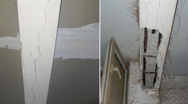 Bağcılar'da yıkılma riski olan iki bina boşaltıldı