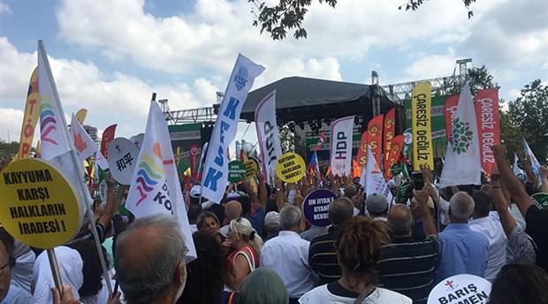 İstanbul'da 1 Eylül Mitingi: Savaşa karşı barış, kayyuma karşı halk iradesi