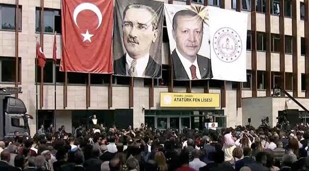 Erdoğan'dan Kadıköy Atatürk Fen Lisesi'nde açılış konuşması