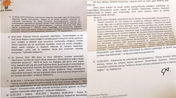 Davutoğlu'nun ihracının istenmesine gösterilen gerekçe ortaya çıktı