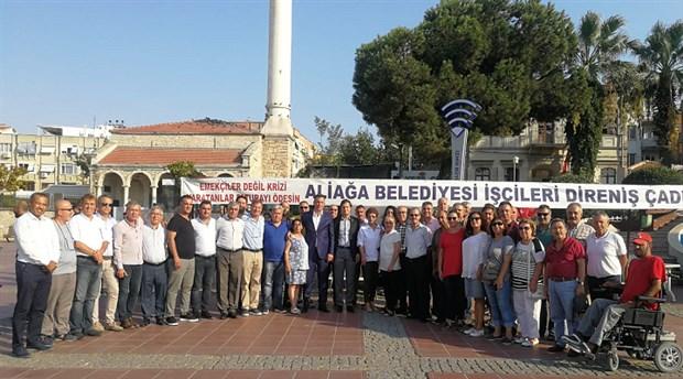 CHP İzmir İl başkanı Deniz Yücel'den Aliağa işçilerine ziyaret