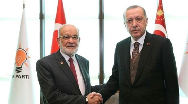 Karamollaoğlu'ndan Erdoğan'a ziyaret