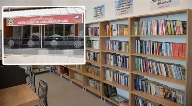 Menemen'de Didem Madak Halk Kütüphanesi açıldı