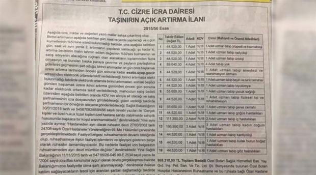 """TTB'den icra ilanıyla """"doktor satışına"""" tepki"""