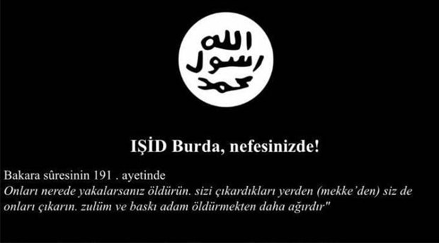 Yerel gazetenin internet sitesi hacklendi: Sayfaya IŞİD amblemi konuldu