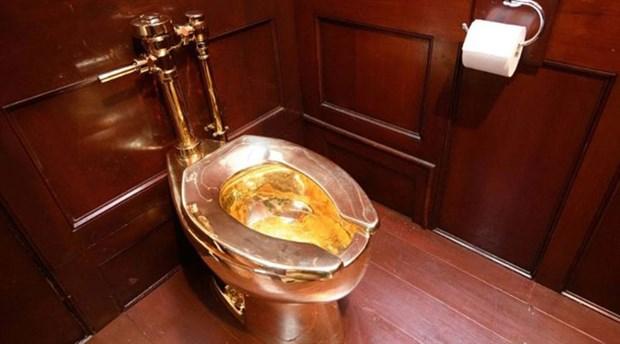 5 milyon dolarlık altın klozet saraydan çalındı