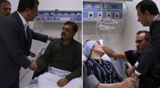 Ekrem İmamoğlu ve Haluk Levent'ten Neslican Tay'ın ailesine ziyaret