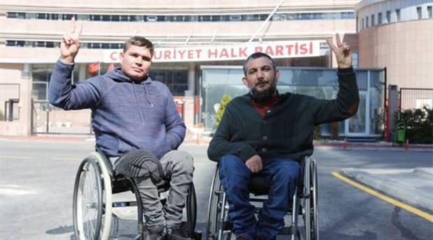 CHP Genel Merkezi önünde açlık grevi eylemi