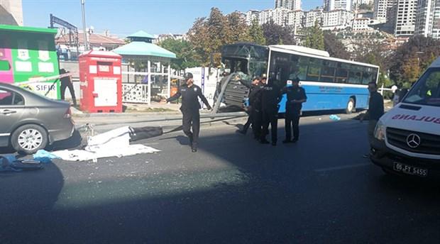 Ankara'da halk otobüsü durağa daldı: 4 ölü, 10 yaralı