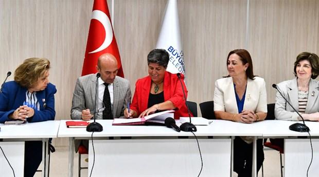 İzmir Büyükşehir Belediyesi kadın hakları için 3 yeni protokol imzaladı
