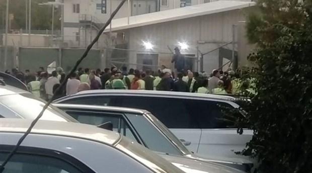 Yapımı devam eden ABD elçilik binasında maaşlarını alamayan işçiler eyleme geçti