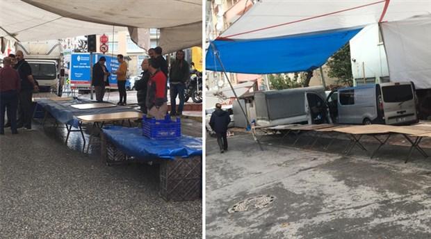 Esnaftan AKP'li belediyenin yüksek kira talebine karşı 'boş tezgah' eylemi