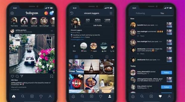 Instagram iOS'a karanlık mod geldi!