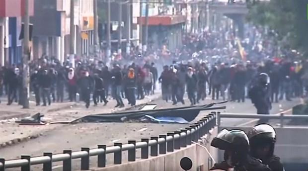 ABD protestoların sürdüğü Ekvador'da hükümete destek verdiğini açıkladı