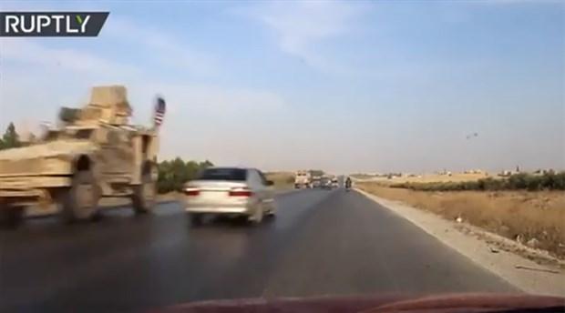 ABD askerleri ile Suriye ordusu otobanda karşılaştı