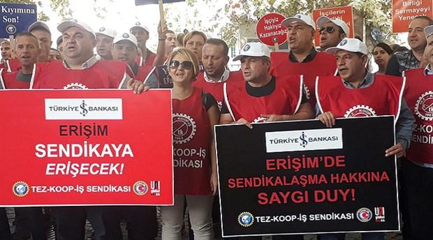 Erişim Çağrı Merkezi'nde sendikal çalışmaya baskı ve engellemelere protesto