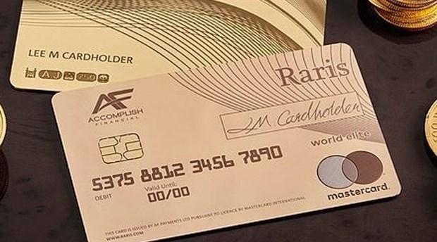 Ultra zenginler için dünyanın ilk gerçek altın kartı