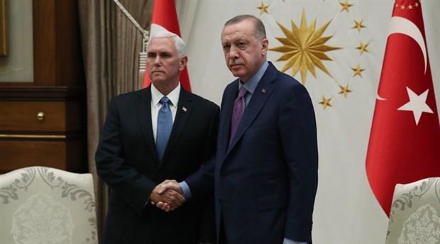 Erdoğan-Pence görüşmesine sadece ABD'li gazeteciler alındı