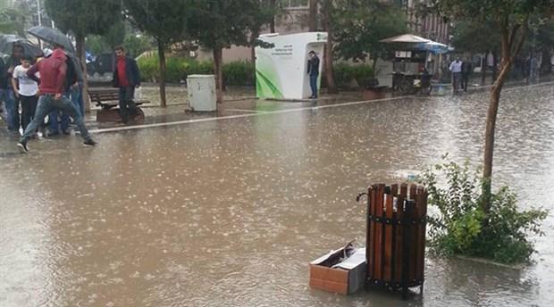 Mardin'de sağanak yağış