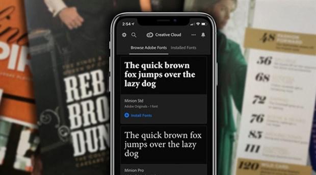 Adobe font kütüphanesini iPhone kullanıcılarına açtı