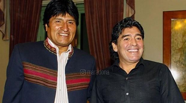 Maradona'dan Morales'e destek: Darbeyi kınıyorum