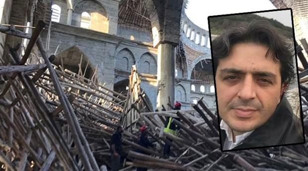 Cami inşaatı iskelesinin altında kalan mühendis yaşamını yitirdi