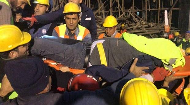 Cami inşaatı iskelesinin altında kalan mühendise ulaşıldı